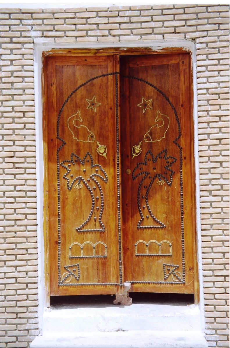 Portes en bois de palmier et fen tres en fer forg for Porte bois exterieur occasion